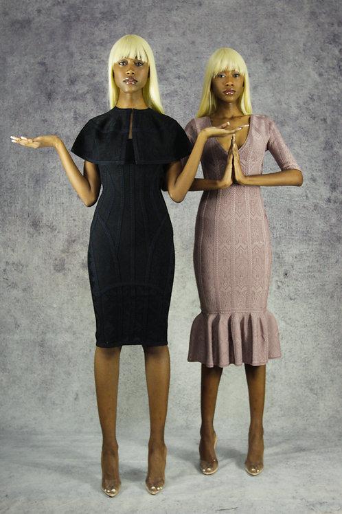 Black Corset Dress with Pelirina