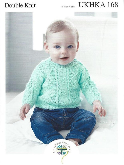 UKHKA Pattern 168-Sweater & 2 Cardigans DK