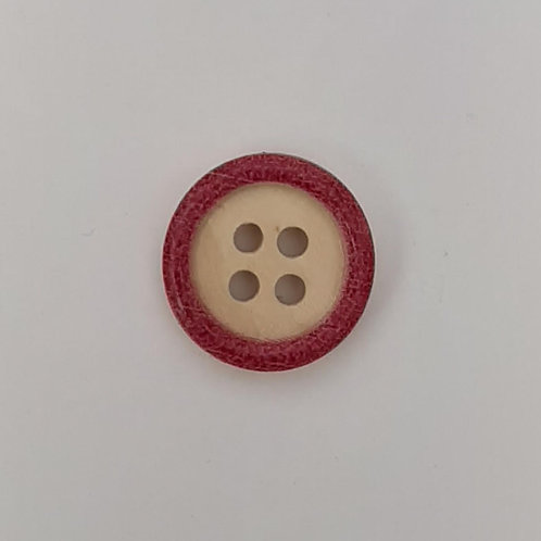 Baby & Toddler Buttons ( Round wood with colour)- set of 5