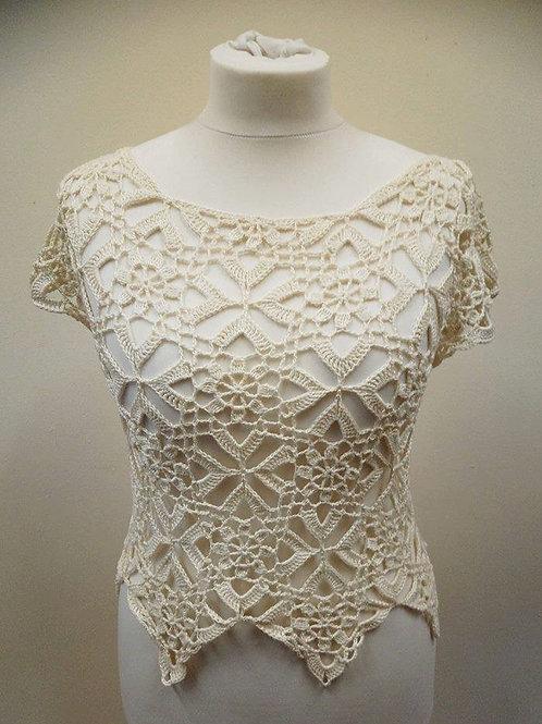 Magnolia Crochet Lace Top Pattern Digital Download