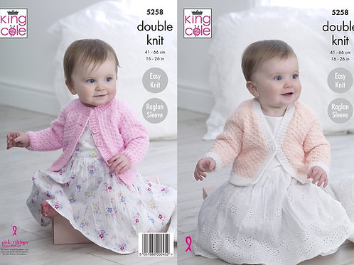 King Cole Baby Cardigan Pattern 5258