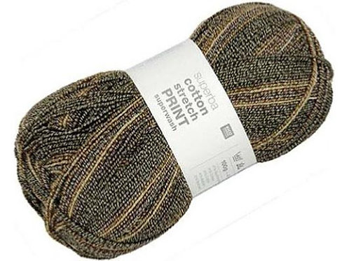 Rico Superba Cotton Stretch Print Sock Yarn