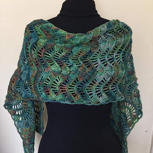 Irish Moss Crochet Wrap/Scarf