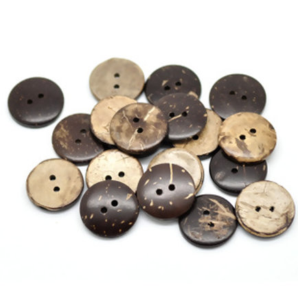 Coconut Shell Buttons- set of 5