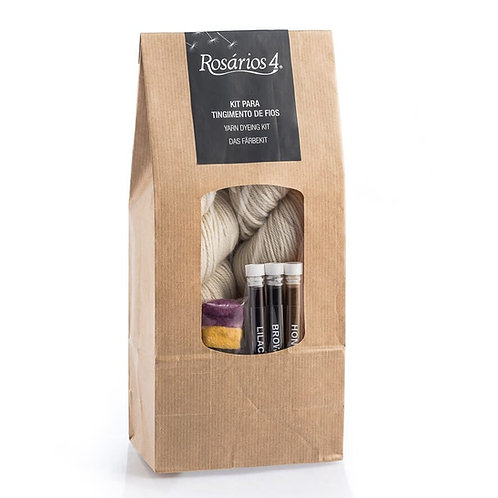Rosarios4 Yarn Dyeing Kit-Merino & Silk