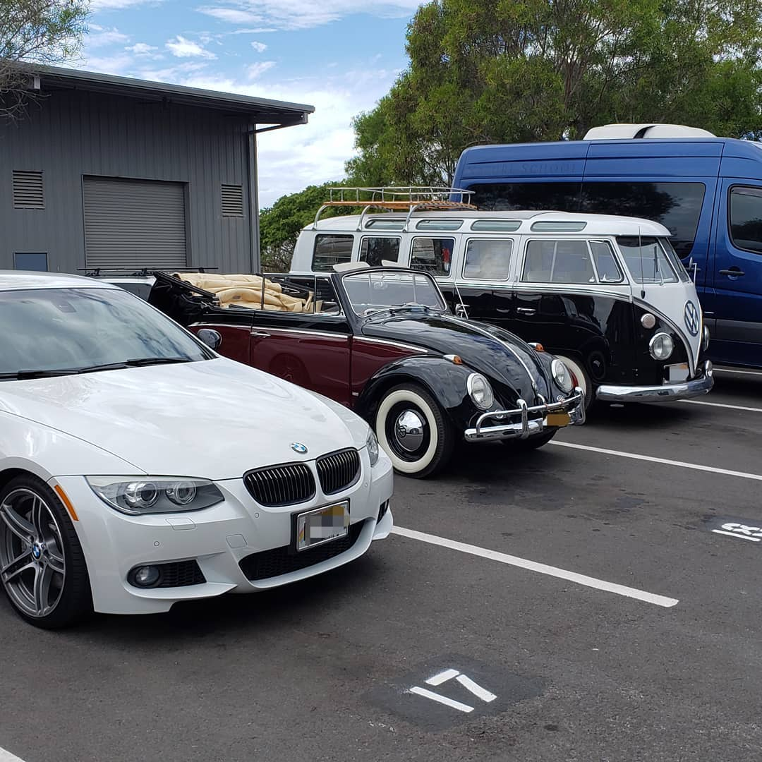 A line up of awesome German cars!