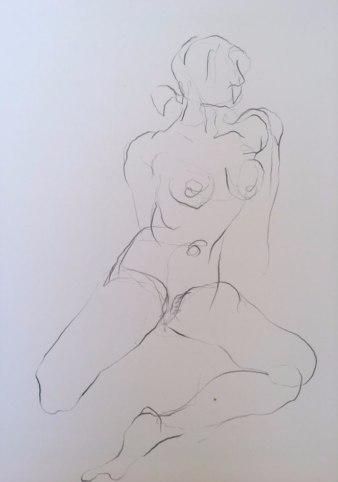 life drawing1-3min Croquis