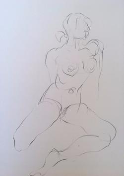 life drawing1-3min Croquis