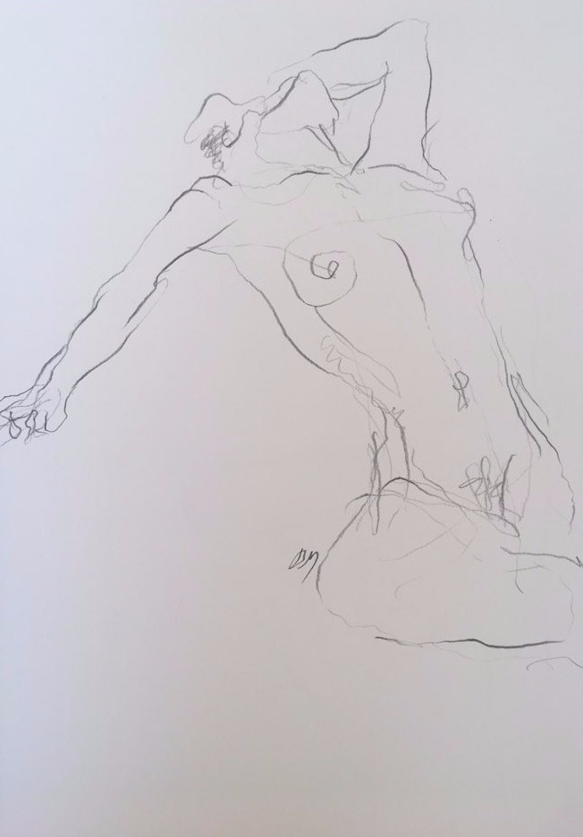 life drawing8-3min Croquis
