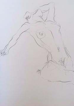 life drawing8-3min Croquis