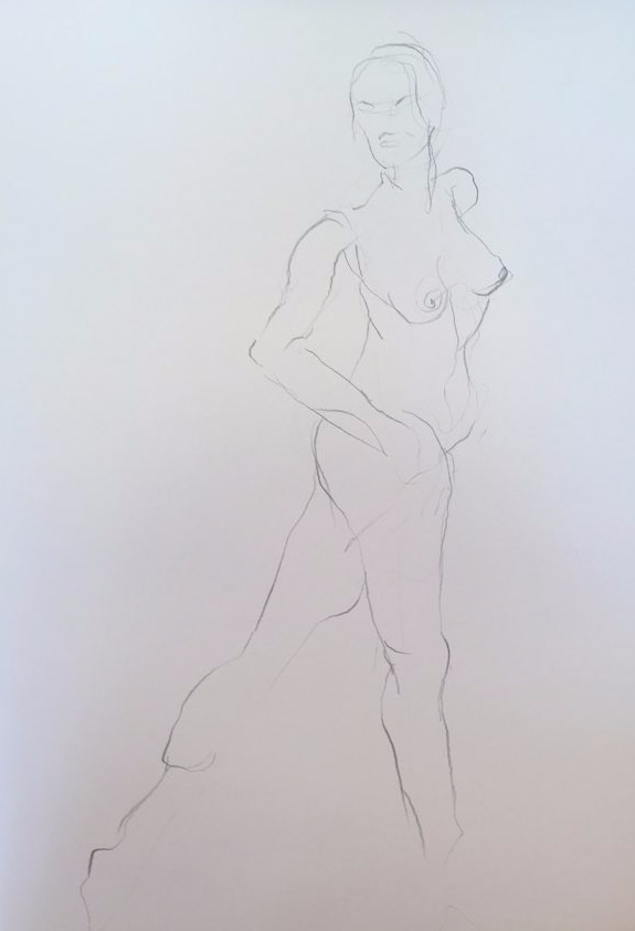life drawing3-3min Croquis