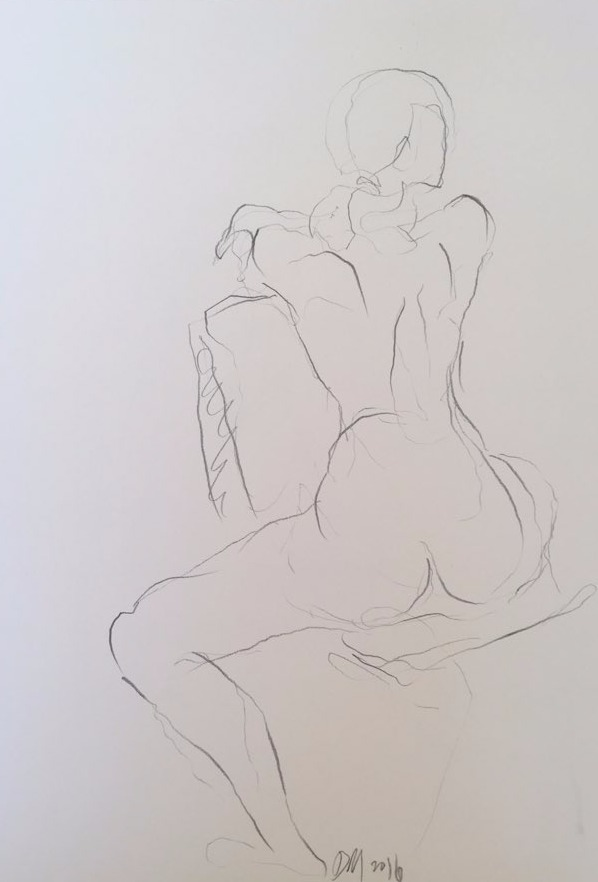 life drawing23-3min Croquis