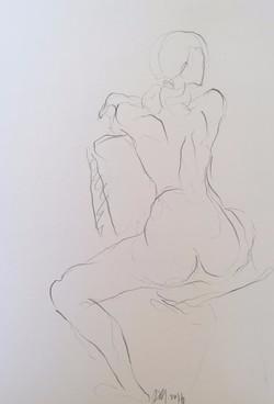 life drawing23-3min Croquis