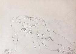 life drawing29-3min Croquis
