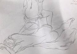 life drawing54-10min Croquis