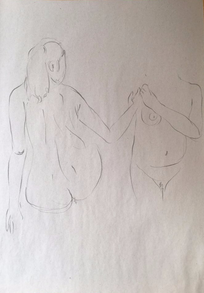 life drawing49-3min Croquis