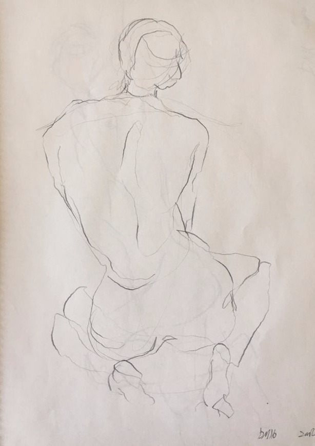 life drawing37-3min Croquis