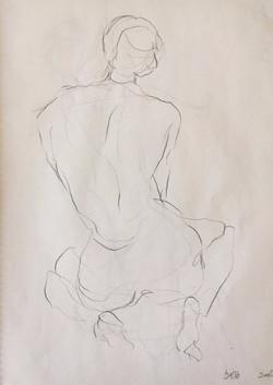 life drawing37-3min Croquis