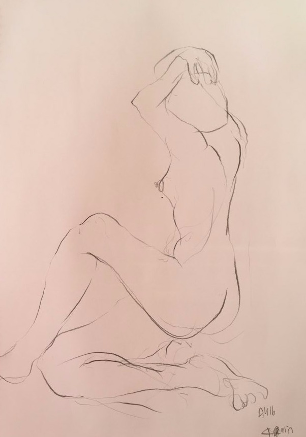 life drawing12-3min Croquis