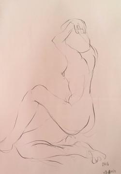 life drawing12-3min Croquis