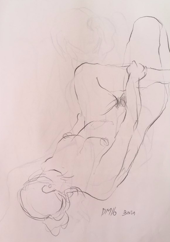 life drawing14-3min Croquis