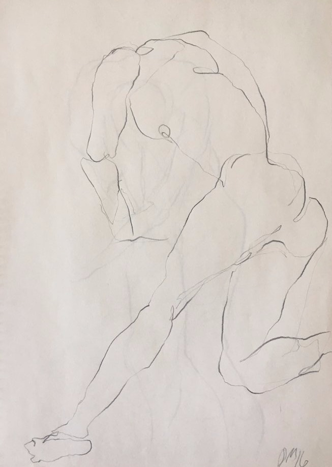 life drawing36-3min Croquis