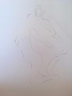 life drawing9-3min Croquis