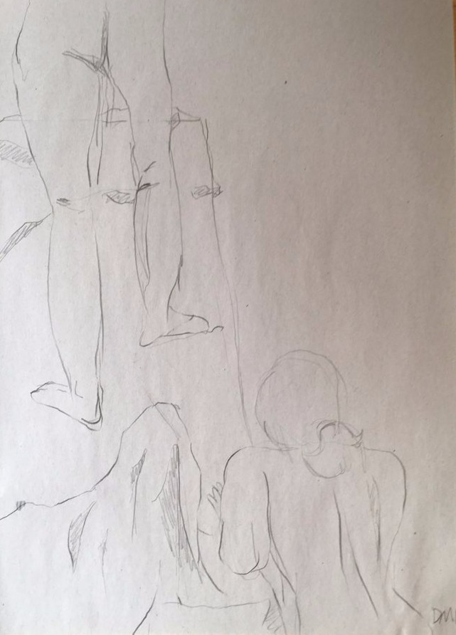 life drawing48-3min Croquis