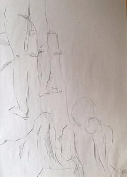 life drawing48-3min Croquis