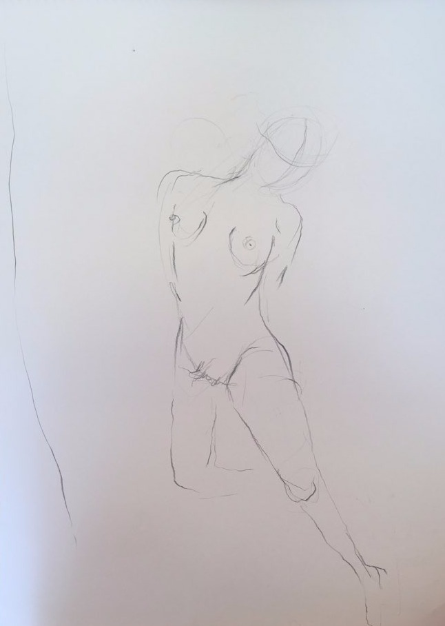 life drawing2-3min Croquis