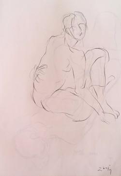 life drawing15-3min Croquis