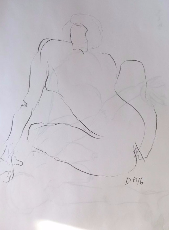 life drawing18-3min Croquis