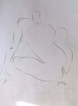 life drawing18-3min Croquis
