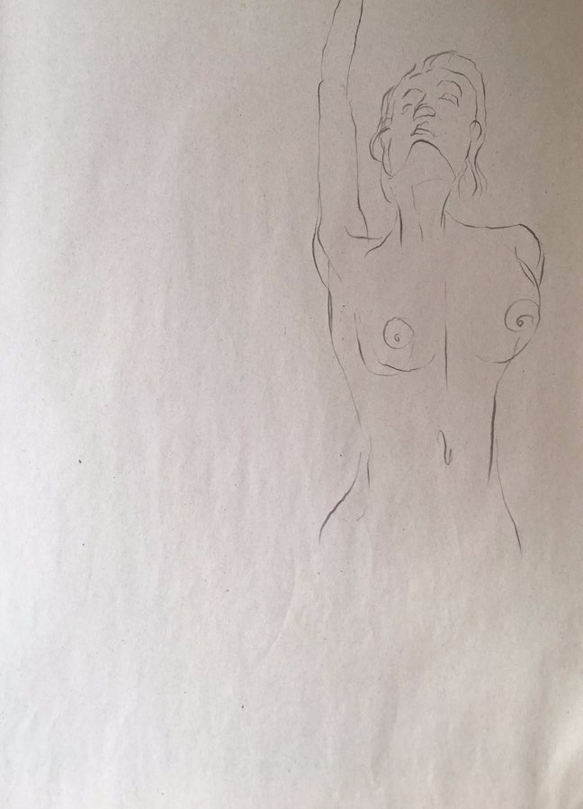 life drawing44-3min Croquis