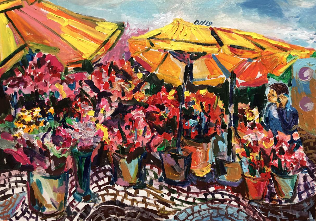 Florist in Rossio Square, Lisbon(rw)