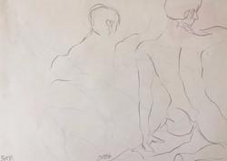 life drawing28-3min Croquis