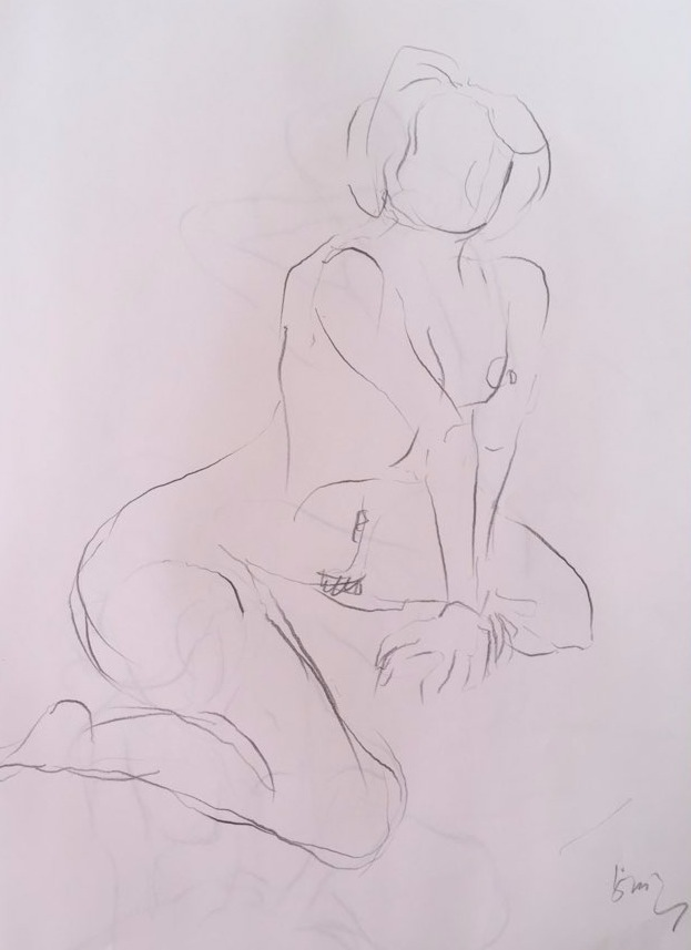 life drawing24-3min Croquis
