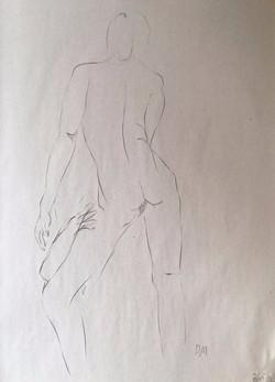life drawing43-3min Croquis