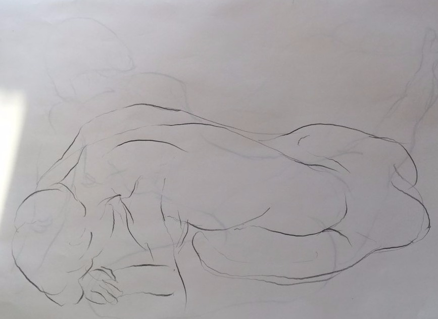 life drawing19-3min Croquis