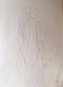 life drawing41-3min Croquis