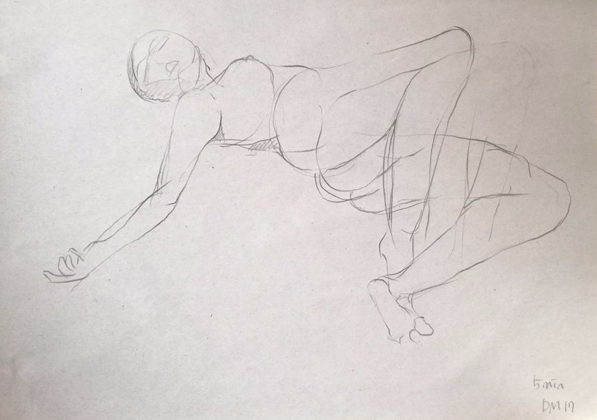 life drawing52-3min Croquis