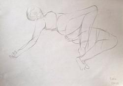life drawing52-3min Croquis