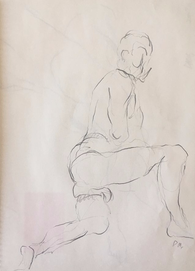 life drawing39-3min Croquis