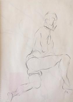 life drawing39-3min Croquis