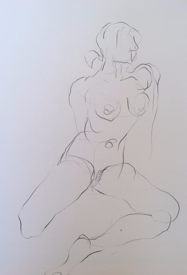 life drawing16-2min Croquis