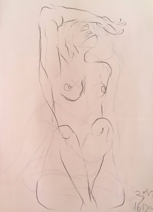 life drawing21-3min Croquis