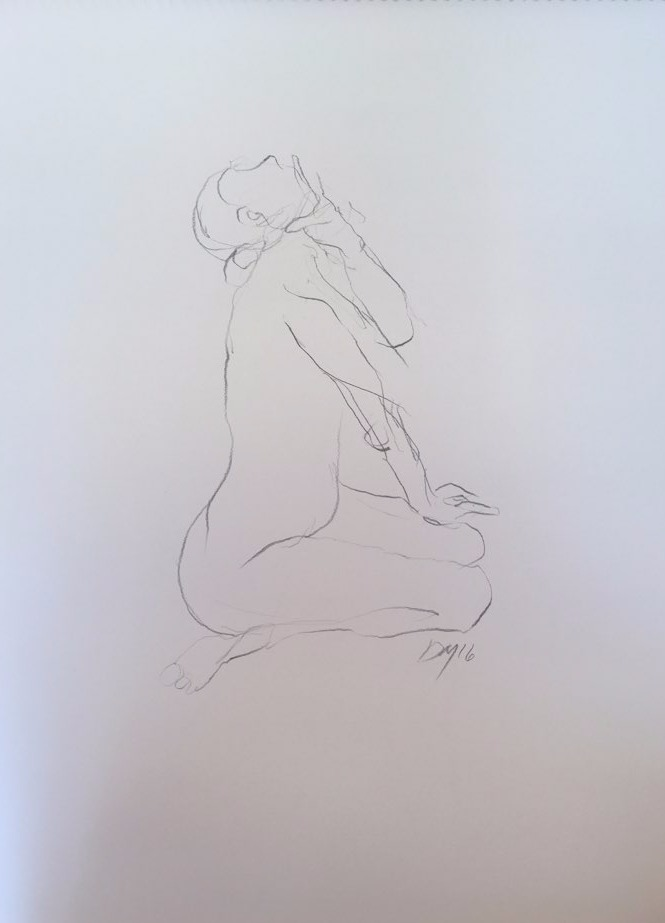 life drawing4-3min Croquis
