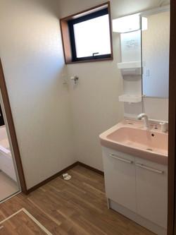 陸前高田市の新築住宅 洗面所