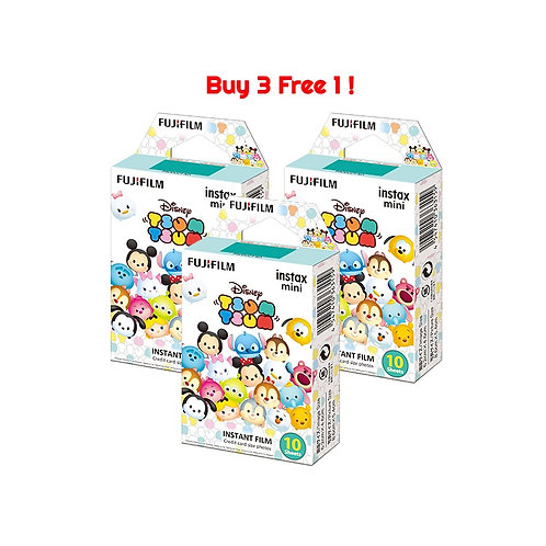 (3 Plus 1 Free) Fujifilm Instax Mini Film Tsum Tsum (3 Plus 1 Free)