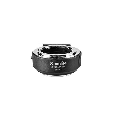 COMMLITE CM-ENF-E1 PRO Autofocus Len Mount Adapter-Nikon F-Mount to Sony E-mount